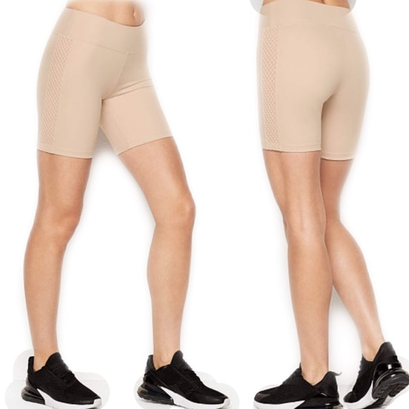 Victoria's Secret Pants - VICTORIA SPORT Oyster Mesh-Detail Bike Short